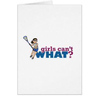 Girl Lacrosse Player Blue Uniform Card