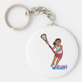 Girl Lacrosse Player - Dark Keychain