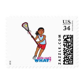 Girl Lacrosse Player - Dark Postage