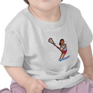 Girl Lacrosse Player - Dark T Shirt