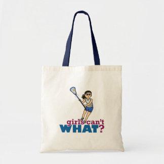 Girl Lacrosse Player in Blue Tote Bag