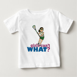 Girl Lacrosse Player in Green Baby T-Shirt