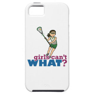Girl Lacrosse Player in Green iPhone 5 Case