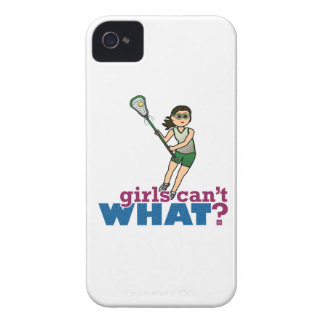 Girl Lacrosse Player in Green iPhone 4 Cover