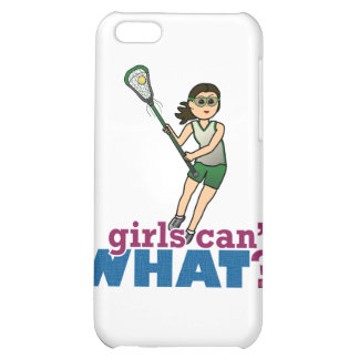 Girl Lacrosse Player in Green Cover For iPhone 5C