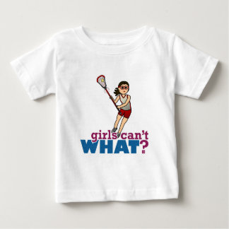 Girl Lacrosse Player in Red Baby T-Shirt