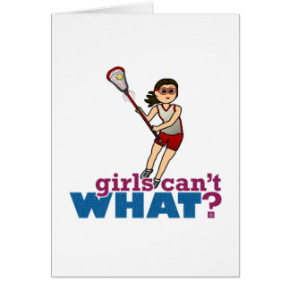 Girl Lacrosse Player in Red Card