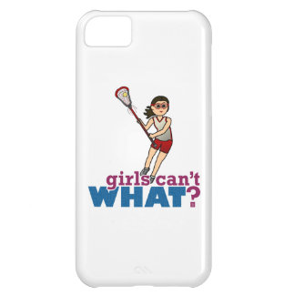 Girl Lacrosse Player in Red Case For iPhone 5C