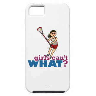 Girl Lacrosse Player in Red iPhone 5 Cases