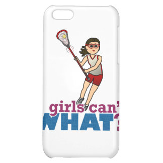 Girl Lacrosse Player in Red iPhone 5C Cover