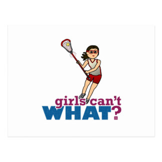 Girl Lacrosse Player in Red Postcard