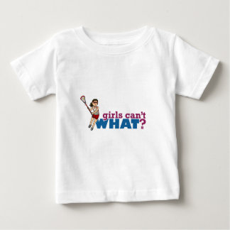 Girl Lacrosse Player Red Uniform Baby T-Shirt