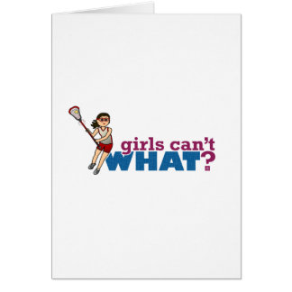Girl Lacrosse Player Red Uniform Card