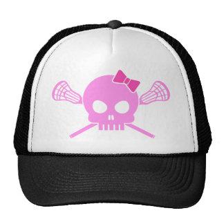 Girl Lacrosse Skull Trucker Hat