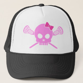 Girl Lacrosse Skull Trucker Hat