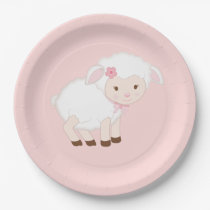 Girl Lamb paper plates for Any event