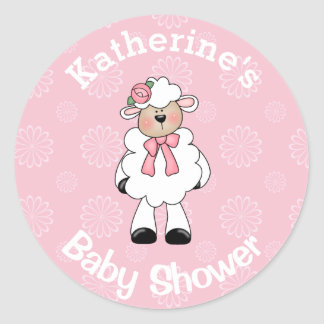Girl Lamb Stickers