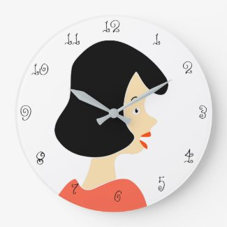 Girl Large Clock