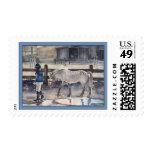 Girl Leading Her Pony Artwork Stamps
