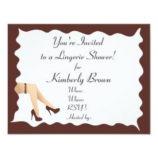 Girl Legs Bridal Shower Invitation