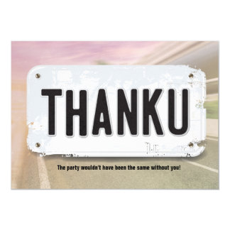 Girl License Plate Thank You Cards