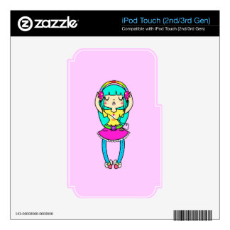 Girl likes Music Decals For iPod Touch 3G