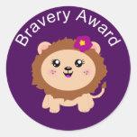 Girl Lion Bravery Award - Sticker for being brave