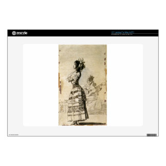Girl Listening to a Guitar by Francisco Goya Decals For Laptops