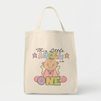 Girl Little Angel 1st Birthday Tshirts and Gifts Tote Bag