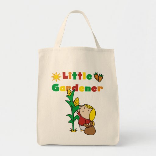 Girl Little Gardener Tshirts and Gifts Grocery Tote Bag