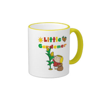 Girl Little Gardener Tshirts and Gifts Ringer Coffee Mug