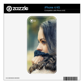 girl-looking-away decal for iPhone 4