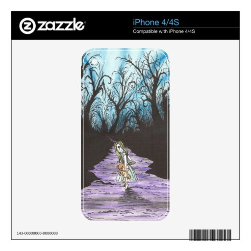Girl Lost In Woods iPhone 4S Decal