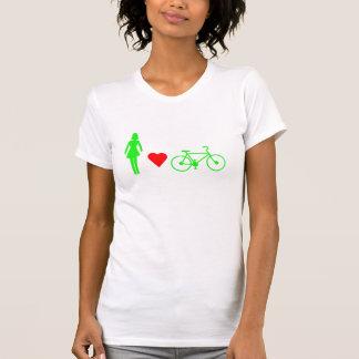 Girl Loves Bike Logo Sport T-shirt