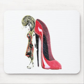 Girl loves Red Stiletto's! Mouse Pad