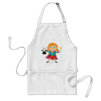 Girl Magician Adult Apron