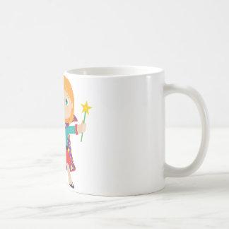 Girl Magician Classic White Coffee Mug