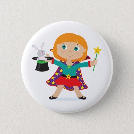 Girl Magician Pinback Button