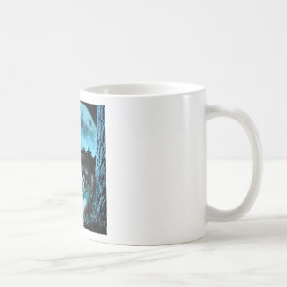 Girl making butterflies classic white coffee mug