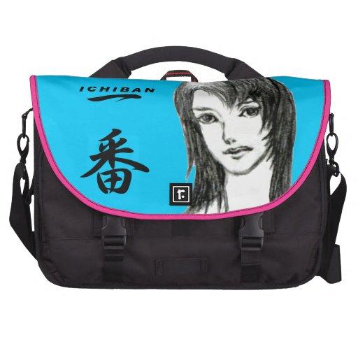 GIRL manga japan Laptop Messenger Bag