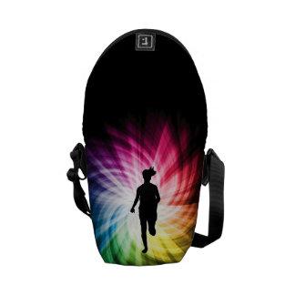 Girl Marathon Runner Courier Bag