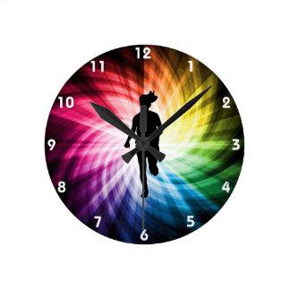 Girl Marathon Runner Round Clock