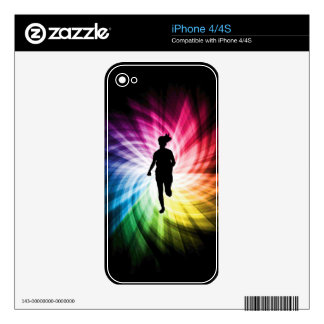 Girl Marathon Runner Skin For iPhone 4S