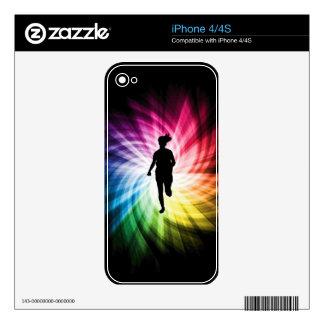 Girl Marathon Runner Skin For iPhone 4S