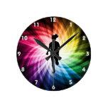 Girl Marathon Runner Wall Clock