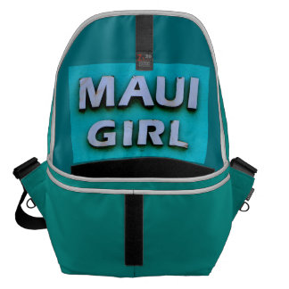 girl maui green courier bag