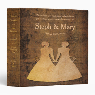 Girl Meets Girl Love Story Gay Wedding Album Binder