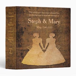 Girl Meets Girl Love Story Gay Wedding Album Binder