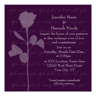Girl Meets Girl Personalized Invitations