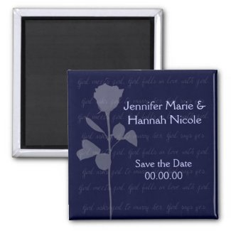 Girl Meets Girl Save the Date Magnet